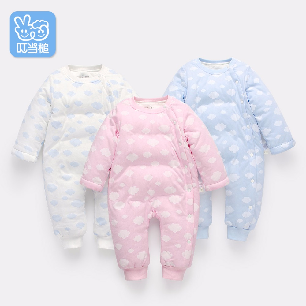 Autumn/Winter Newborn Boys Girls Romper Infant Warm Clothes Thicken Cotton Padded Coat Children Overalls Outerwear Baby Jumpsuit baby romper sets for girls newborn infant bebe clothes toddler children clothes cotton girls jumpsuit clothes suit for 3 24m