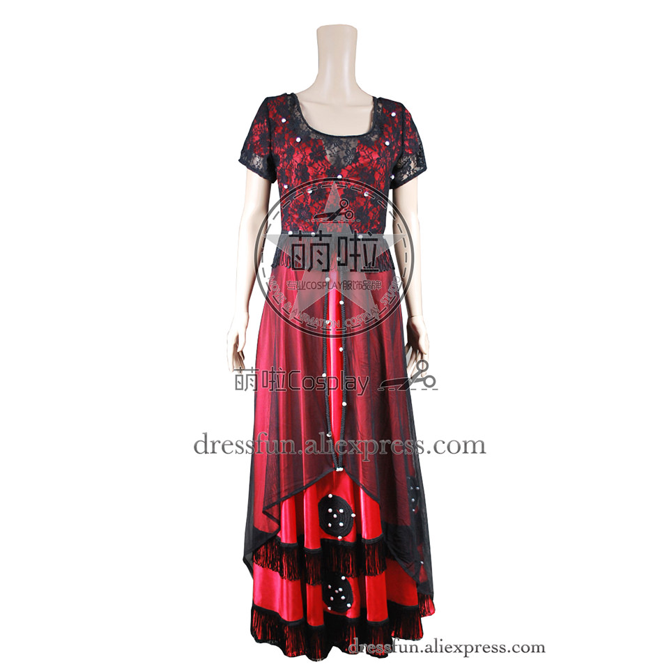 Titanic Cosplay Rose DeWitt Bukater Beautiful Costume Red Jump Long Dress Outfits Suit Halloween Fashion Party Fast Shipping