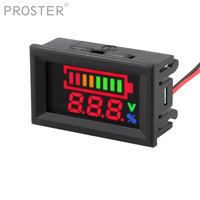 Proster for 12V Lead Battery Indicator Battery Capacity LED Tester Voltmeter Charge Level Indicator Lead Monitor