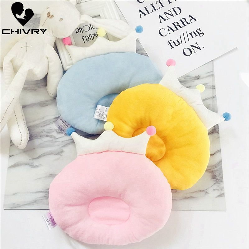 New Baby Shaping Pillow Prevent Flat Head Infants Crown Shape Solid Pure Cotton Sleeping Bedding Room Pillows