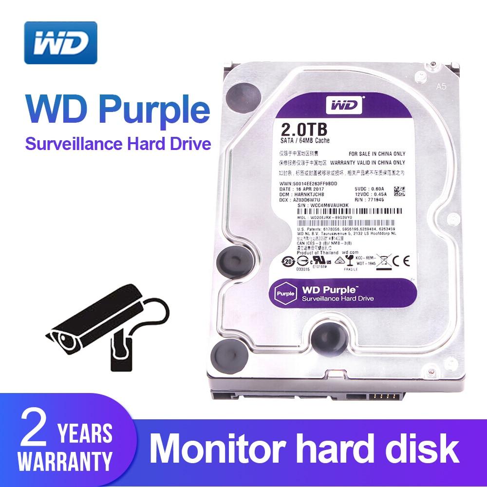 Western Digital WD Purple 2TB 3 5 Surveillance HDD 64MB SATA 6 Gb s Internal Hard