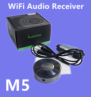 New M5 AudioCast WIFI Receiver 3.5mm 2.4G WIFI Music Airplay DLNA IOS Android HIFI Audio Speaker Spotify Wireless Sound Streamer