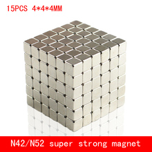 15PCS 4*4*4mm mini cube strong N42 N52 magnet NdFeB magnets 4x4x4mm