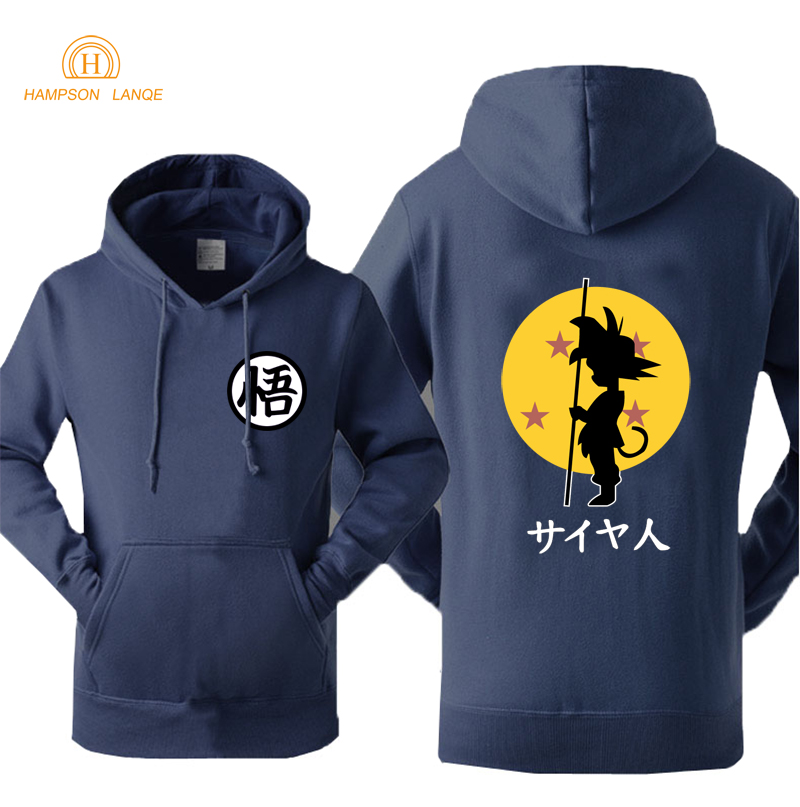 Dragon Ball Anime Fashion Print 2019 Spring Autumn Fleece Sweatshirts For Men Hoody Brand Tracksuit Men's Sportswear Streetwear