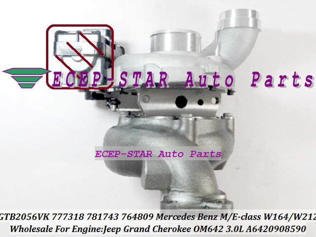 GTB2056VK 764809 764809-0004 764809-0002 764809-0001 A6420908580 68004663AA  Turbo For Jeep Grand Cherokee OM642 850 3 0L Euro 5