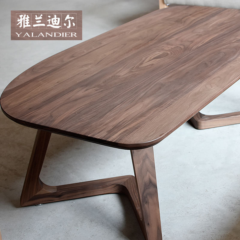 Black walnut black furniture solid wood coffee table