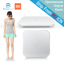 Original xiaomi inteligente miscale salud balanza digital escala mi inteligente android 4.4 apoyo ios 7 con bluetooth 4.0 blanco