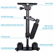 "YELANGU 40CM/15.7"" Aluminum Handheld Camera Stabilizer DSLR Steadicam S40 Steadycam for Camcorder Camera Video Load 1.5kg"