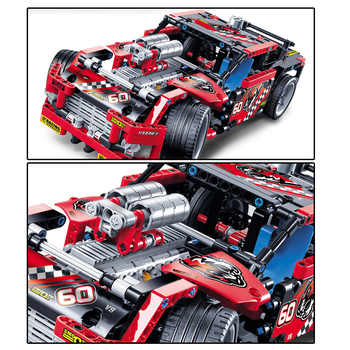 608pcs Race Truck Car 2 In 1 Transformable Model Building Block Sets Toys Compatible With Technic 42041 42036 Street Motorcycle