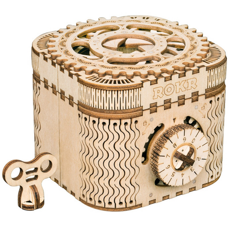 Robotime Creative Diy 3d Treasure Box Wooden Puzzle Game Pack Children's Toys Gifts Teen Adult Lk502