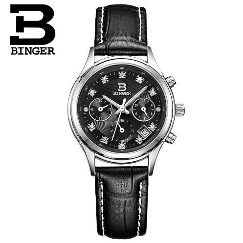 Switzerland Binger Superior New Fashion Geneva Women Watches Woman Watch Quartz Wristwatch Sports Casual Leather Reloj Muj