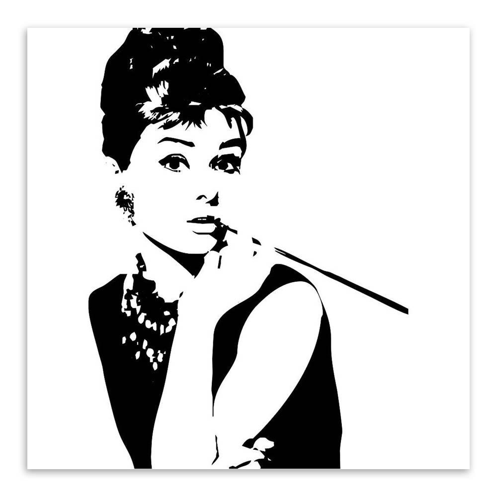 Minimalist Black White Audrey Hepburn Poster Prints Movie Celebrity ...