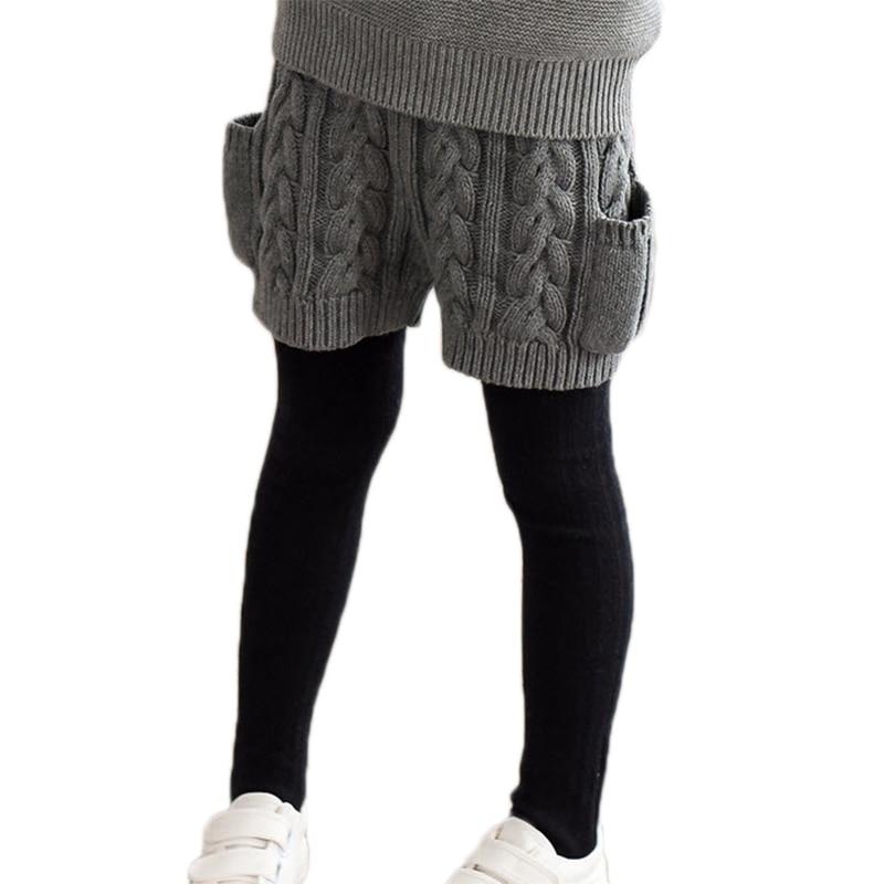 Kinderen Jongens en Meisjes Shorts Katoen Gebreide Broek Wol Jacquard - Kinderkleding
