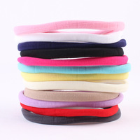 20PCS LOT Wholesale Candy Color Nylon Headbands Thick Nylon Headband Soft Stretch Headwrap DIY Hair Accessories