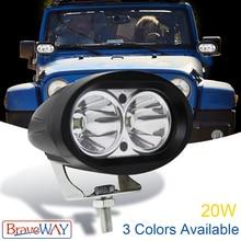 BraveWay 3.6 inch Flood/Spot Led Work Light Waterproof Offroad Truck Car LED 12V Extra for ATV Motorcycle