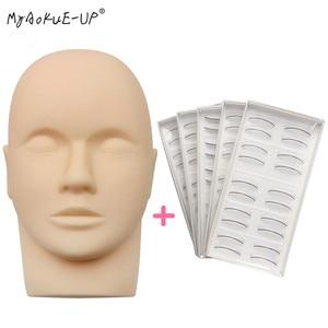 Image 1 - עין פנים איפור אימון ריסים ריס הרחבות Mannequin ראש שטוח עם בפועל ריסים
