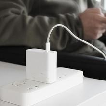 オリジナルシャオ mi mi USB C 充電器 45 ワット最大スマート出力タイプ C ポート USB PD 2.0 急速充電 qc 3.0 と USB C に USB C 日付ケーブル