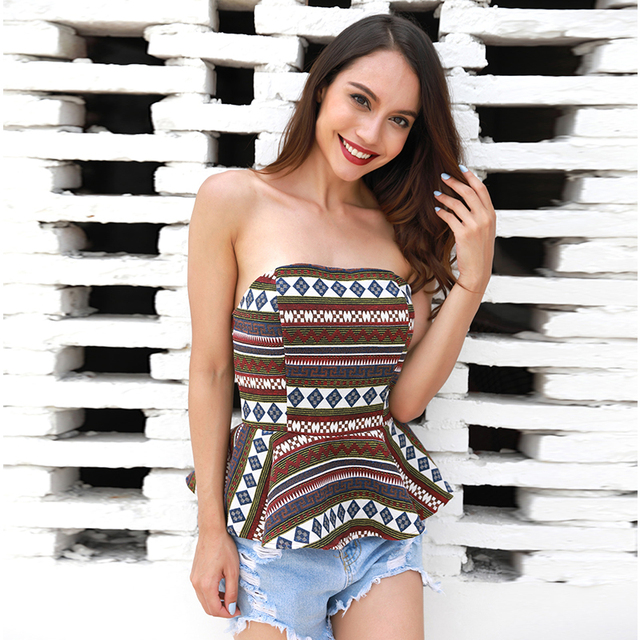 Geometric Slim Waist Casual Boho Top