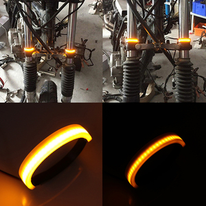 Red/Blue/Yellow/White SMD LED Strip Clean Look Fork Turn Signal Indicator Light for Motorcycle Accessories