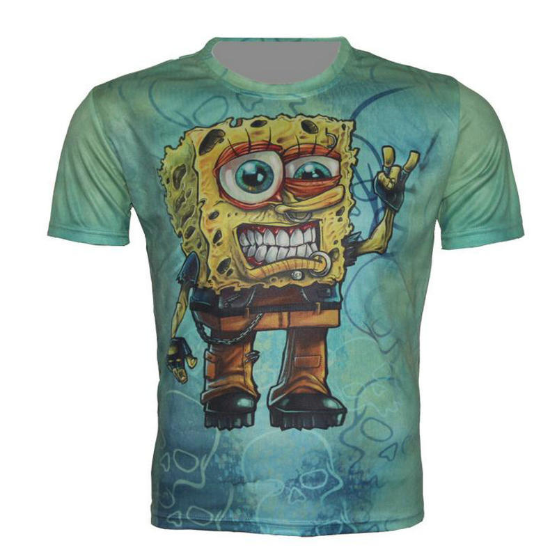 lovely cartoon print personality 3d t shirt cool men funny strange casual tee shirt summer new. Black Bedroom Furniture Sets. Home Design Ideas