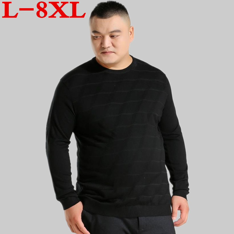 8XL 7XL 6XL Big Size Autumn Winter Fashion Brand Clothing Men's Sweaters Solid Color Slim Fit Men Pullover Knitted Sweater Men