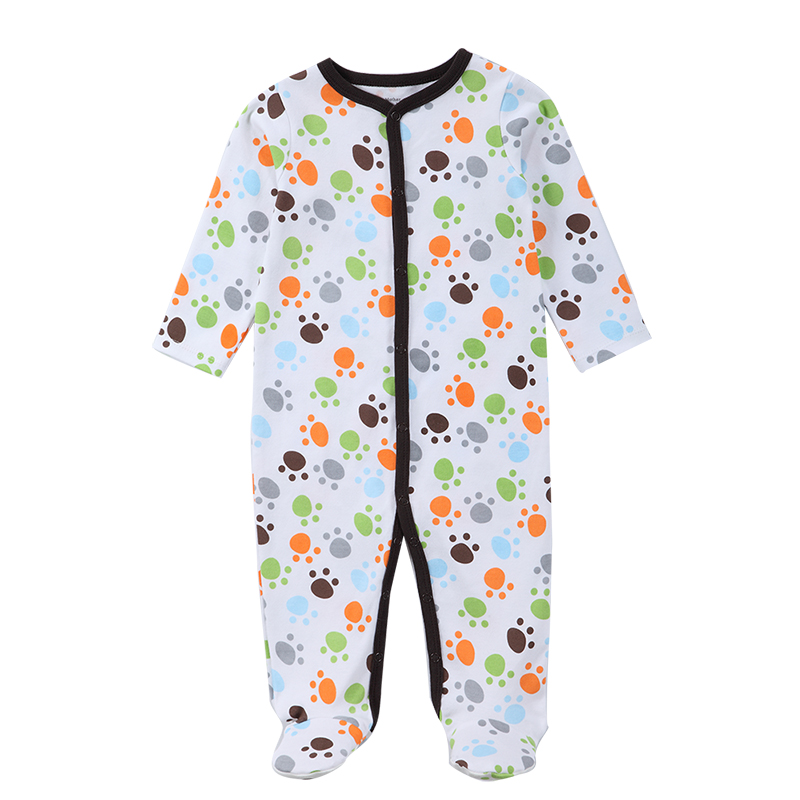 Newborn Baby Boy Girl Clothes Long Sleeve Cartoon Printed Jumpsuit Baby Romper Christmas Similar Mother Nest Clothes