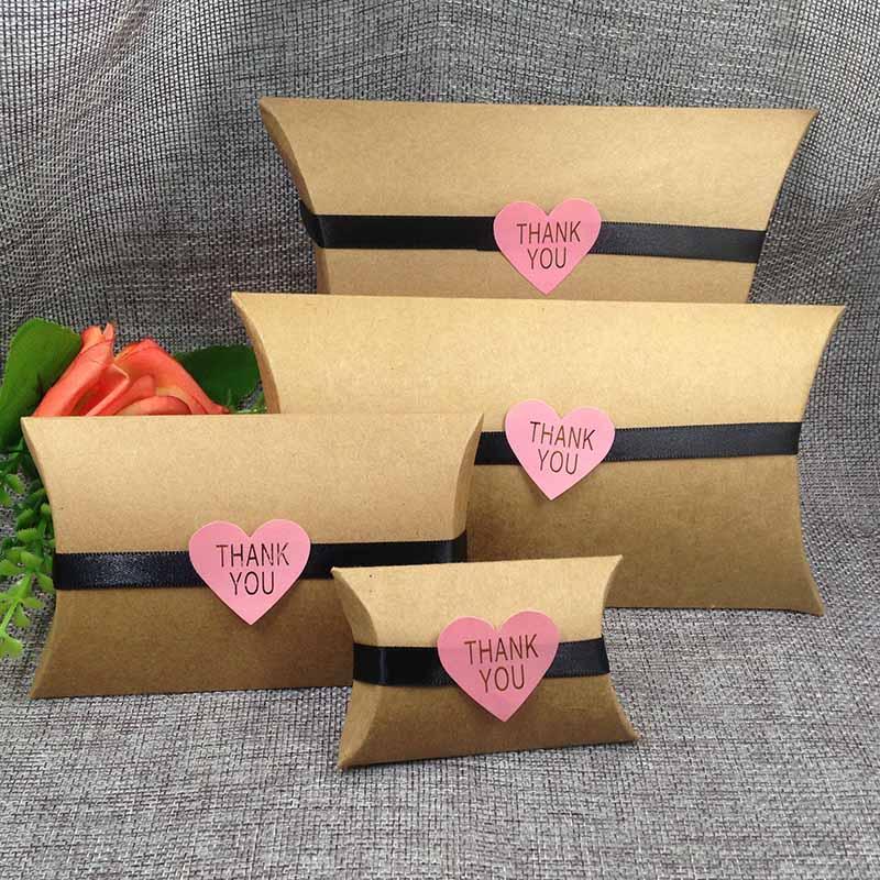 DIY Fashion Jewelry Gift Box Ring Box  Kraft/White/Black/Golden DIY Packing Gift Wedding Favour Box Kraf Pillow Box