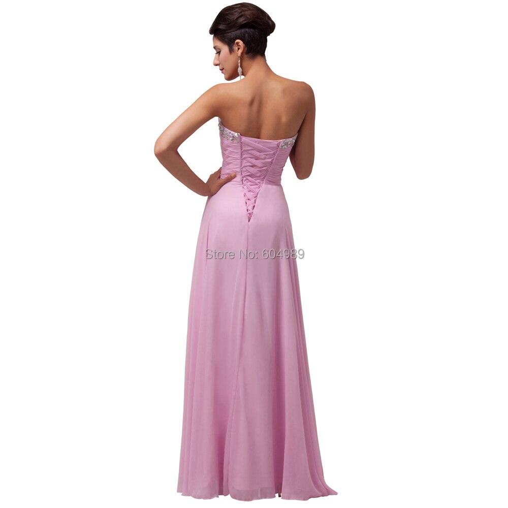 Grace Karin cheap Long Pink Bridesmaid Dresses under 50, Chiffon ...