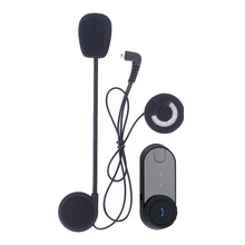 US Plug Bluetooth Motorcycle Helmet Intercom Interphone Headset with LCD screen Up to 10 hours talk time to connected cell phone