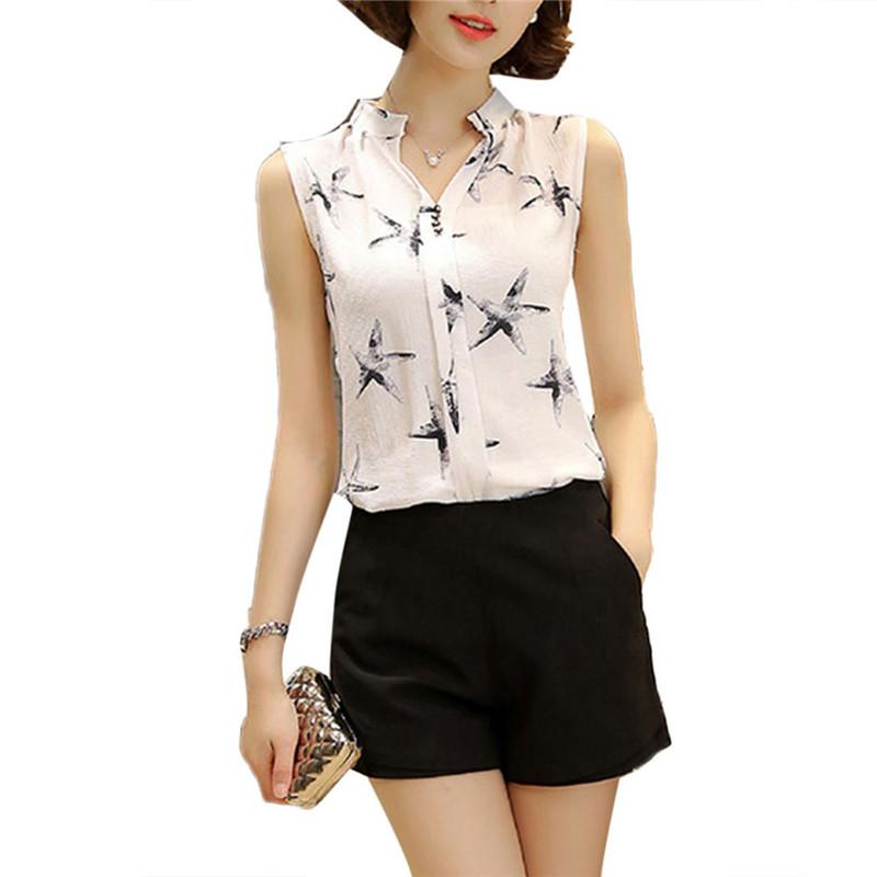 HTB1UvaHQVXXXXcNaXXXq6xXFXXXt - Sleeveless Chiffon Office Shirts Blusa Womens 3XL Plus Size Tunic