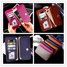 Case For Xiaomi For iphone for Samsung Luxury Wallet PU Leather Case Stand Flip Card Hold Phone Cover Bags