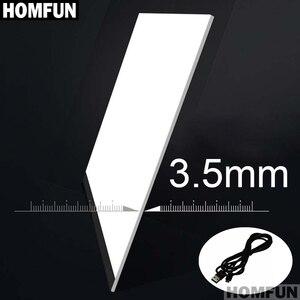 """Image 5 - HOMFUN Ultrathin 3.5 מ""""מ A4 LED אור לוח כרית להחיל כדי האיחוד האירופי/בריטניה/AU/ארה""""ב/USB תקע יהלומי רקמת יהלומי ציור צלב תפר"""