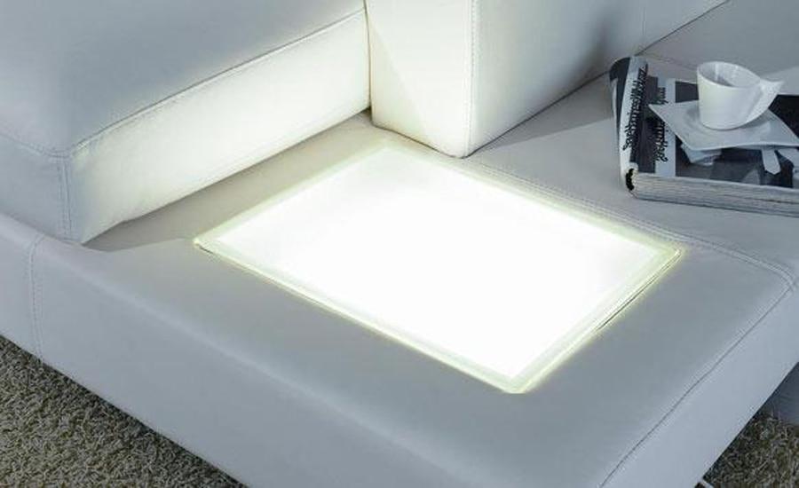 Europeiska laest designer soffa Stor storlek U-formad vit lädersoffa - Möbel - Foto 3