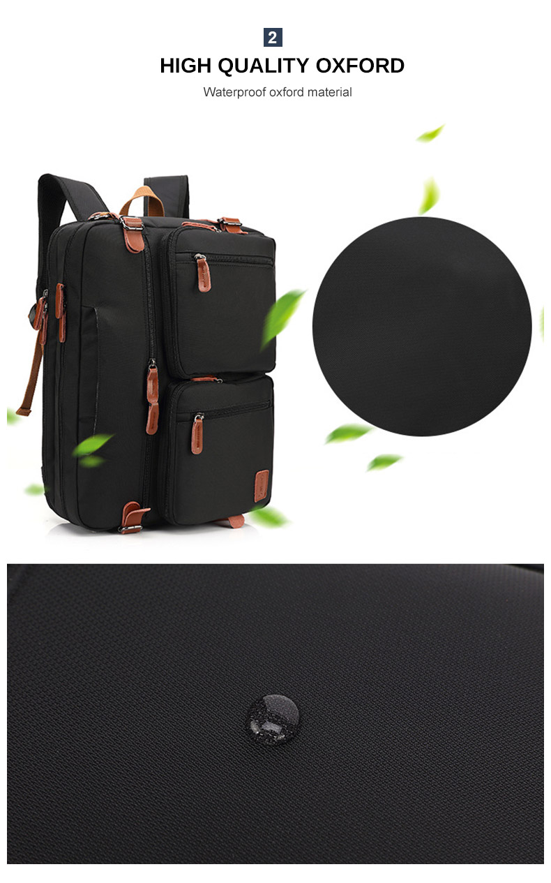 pictures of a laptop bag showing its waterproof materials
