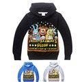 Зимний мальчики толстовки кофты FNAF детская одежда рубашка пять ночей на Freddys толстовка Sudaderas де-ниньо из 4 - 14 лет