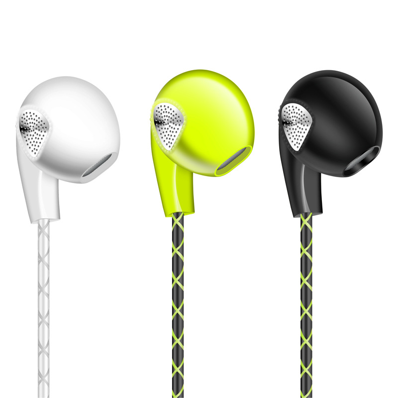 Stereo Earphone Headphone For Apple iPhone 6 6S 5 5S With Microphone 3.5mm Sport Headset Bass Earpods For Samsung Mobile Phone
