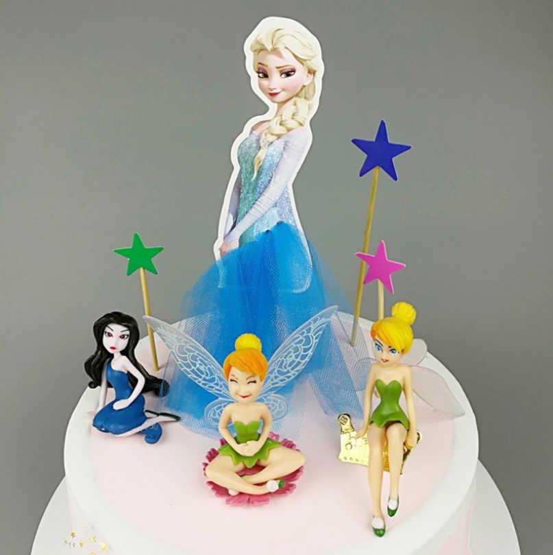Prime Anna Elsa Aurora Princess Birthday Decoration Cupcake Cake Topper Funny Birthday Cards Online Inifodamsfinfo