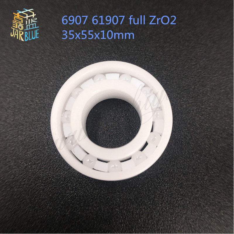Free shipping 6907 61907 full ZrO2 ceramic deep groove ball bearing 35x55x10mm good quality 6906 61906 full zro2 ceramic deep groove ball bearing 30x47x9mm good quality
