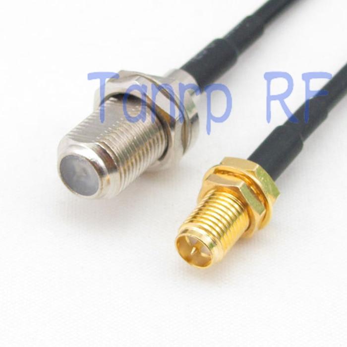 6 дюймов F Гнездо для RP-SMA гнездо Разъем RF адаптер 15 см Pigtail коаксиальный Соединительный кабель RG174 удлинитель
