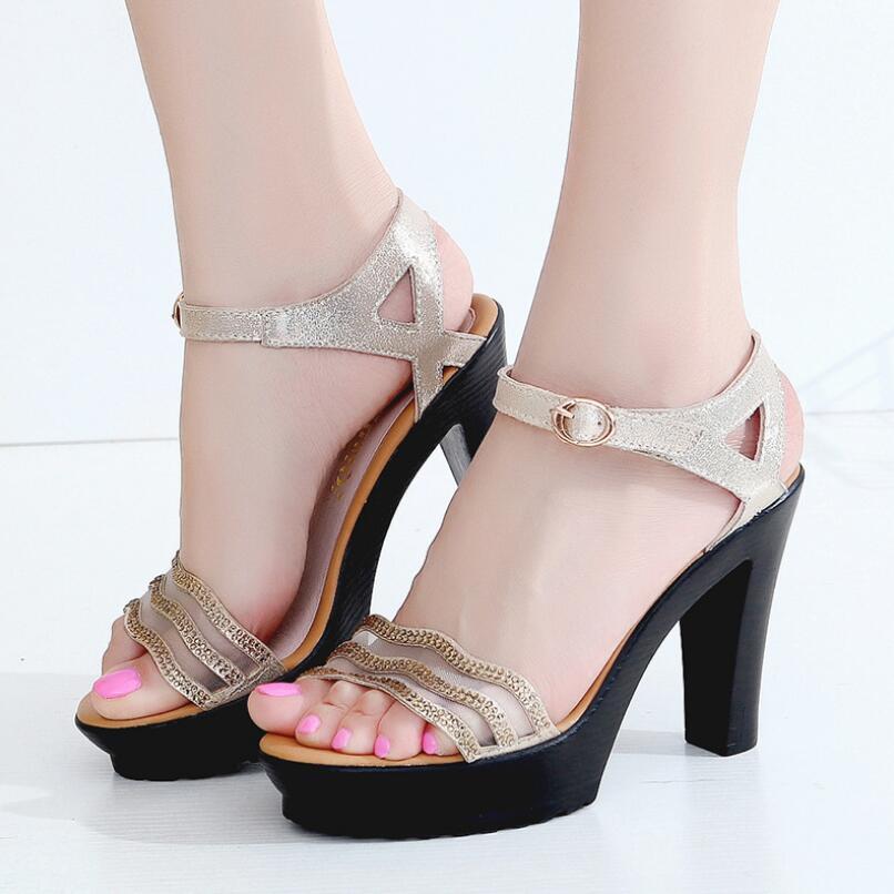 {D&Henlu} High Heels Sandals Women Open Toes Sandals Ladies Sandal With Heels Wedding Sandal Plus Size Shoes Woman Size41 42 43
