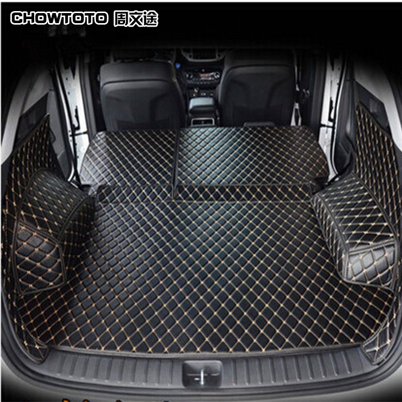 CHOWTOTO AA Custom Special Trunk Mats For Hyundai Tucson Durable Non-slip Waterproof Boot Carpets For Tucson
