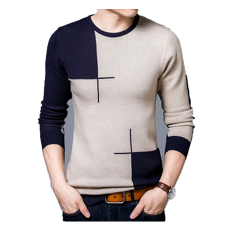 2017 New Fashion Autumn Pullovers Men Casual Sweater O-Neck Sweater And Men Brand-Clothing Knitted