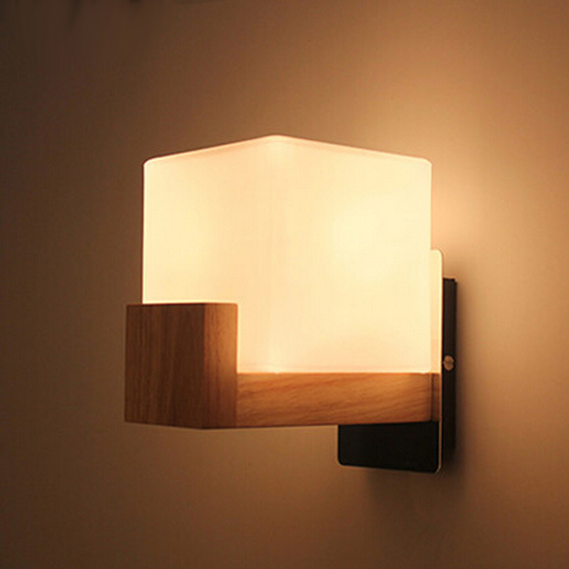 Buy northern europe style wood led wall for Applique mural exterieur bois
