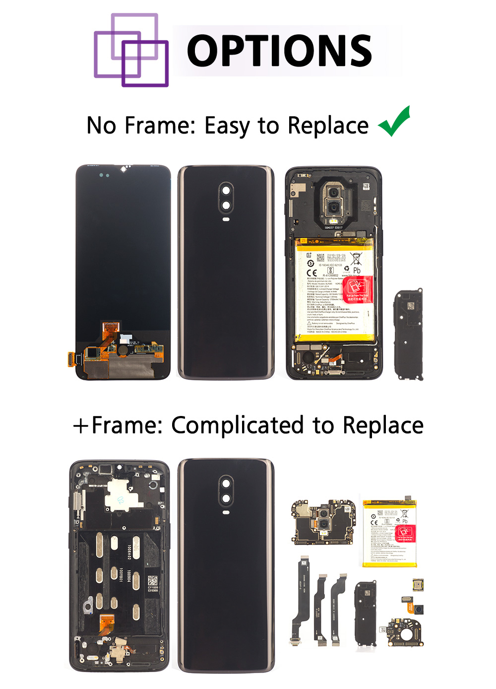 Witrigs For OnePlus 6T LCD Display Touch Screen Digitizer Assembly  Replacement For OnePlus 6 T LCD display