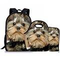 Бесшумный дизайн  детский рюкзак  школьные сумки  йоркширская печать  ранец  школьный ранец для девочек-подростков  сумка для книг  Mochila Escolar