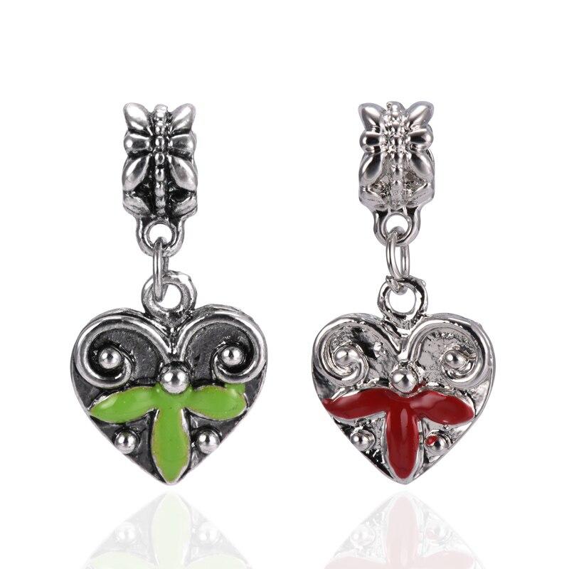 European Silver Plated Metal Alloy Maple Leaf Heart