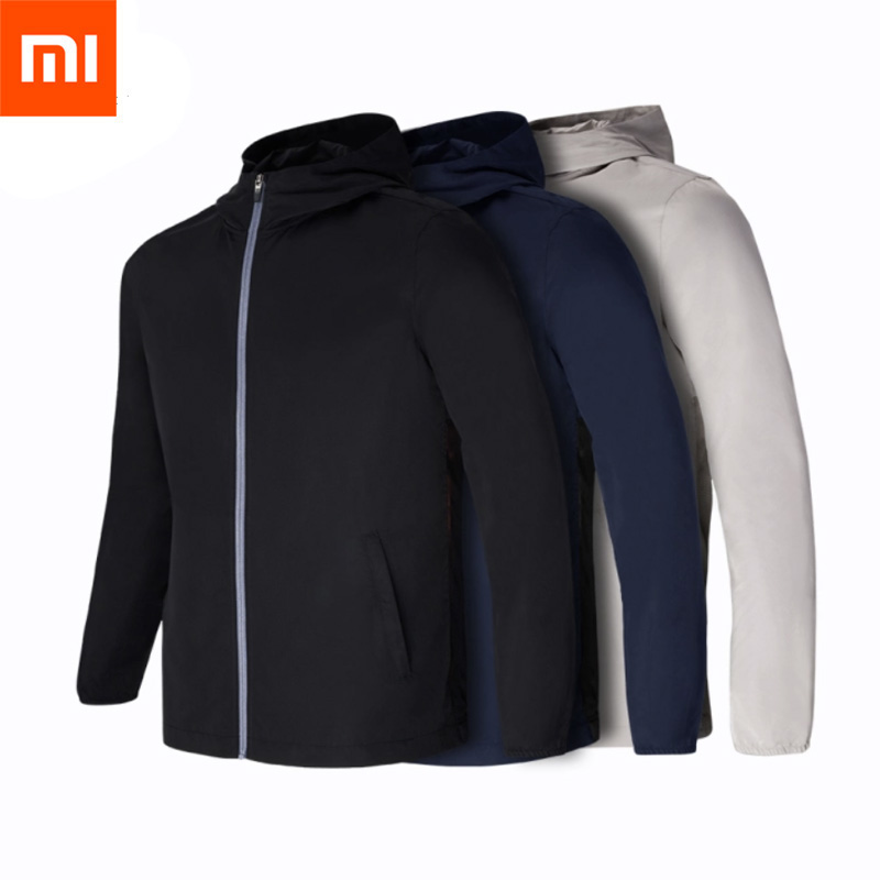 Xiaomi Mijia 7th Carry Bag Resistant Windbreaker Waterproof Backpack Outdoors Jacket Men Clothes