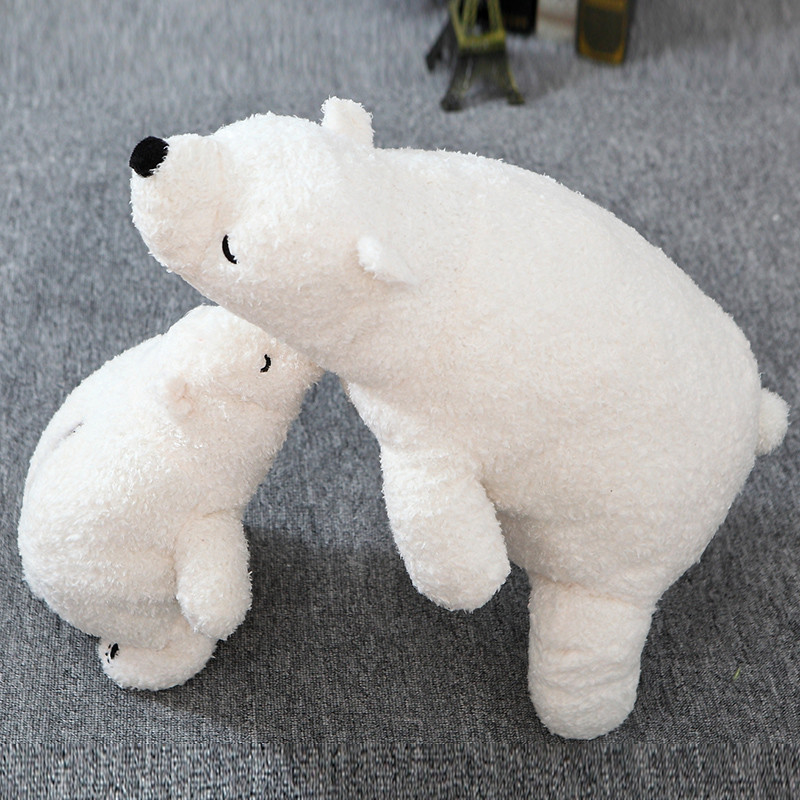 70cm Polar Bear Plush Toy Cute White Bear Soft Dolls Stuffed Kids Toys Best Gift For Children And Girlfriend High Quality 40cm 50cm cute panda plush toy simulation panda stuffed soft doll animal plush kids toys high quality children plush gift d72z