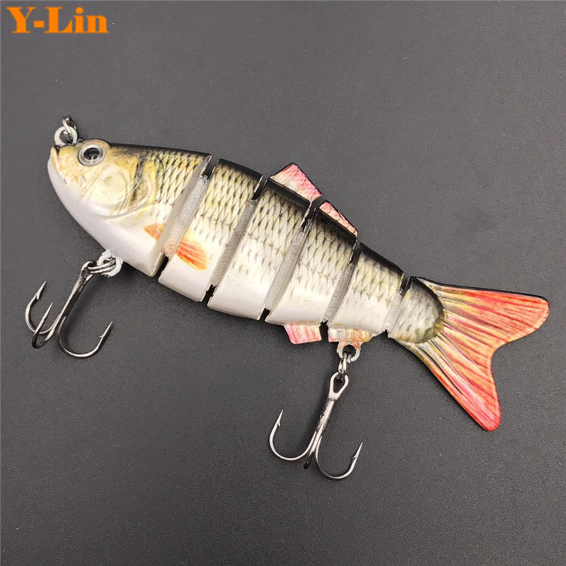 1 pcs6 Segment Fishing Wobblers Lifelike Fishing Lure Swimbait Crankbait Hard Bait 10cm 20g Isca Artificial Lures Fishing Tackle fishing lure blank crankbait unpainted hard bait 4cm 4 2g fishing tackle upc703p10