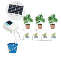 Solar Plant Intelligent Garden Automatic Watering Controller Plants Drip Irrigation Device Water Pump Timer System equipment